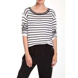 ALICE + OLIVIA Ottoman Linen Blend Sweater Striped